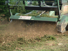 Forestry mulcher in action